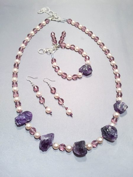 Clothed In Purple Necklace